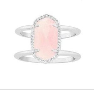 NWOT Kendra Scott Rose Quartz Elyse Ring